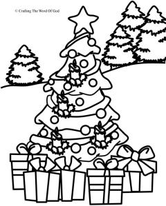 Christmas Coloring Page 1