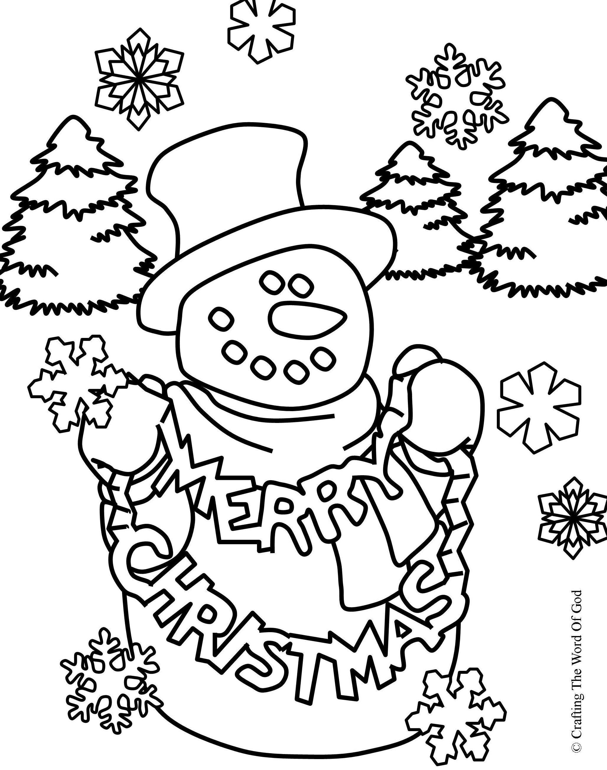 Christmas Coloring Page 2- Coloring Page « Crafting The ...