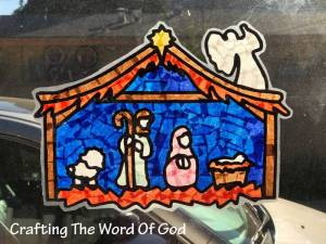 Christmas Nativity Sun Catcher