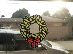 Christmas Wreath Sun Catcher