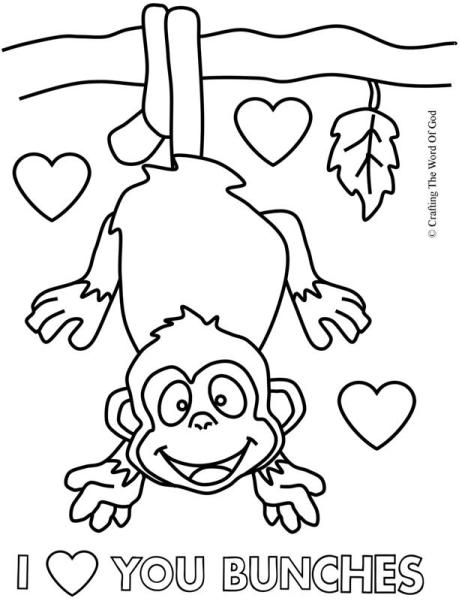 I Love You Bunches Coloring Page
