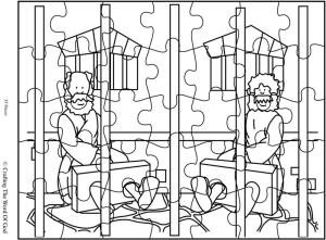 Paul And SIlas In Prison Puzzle