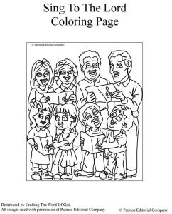 Sing To The Lord Coloring Page