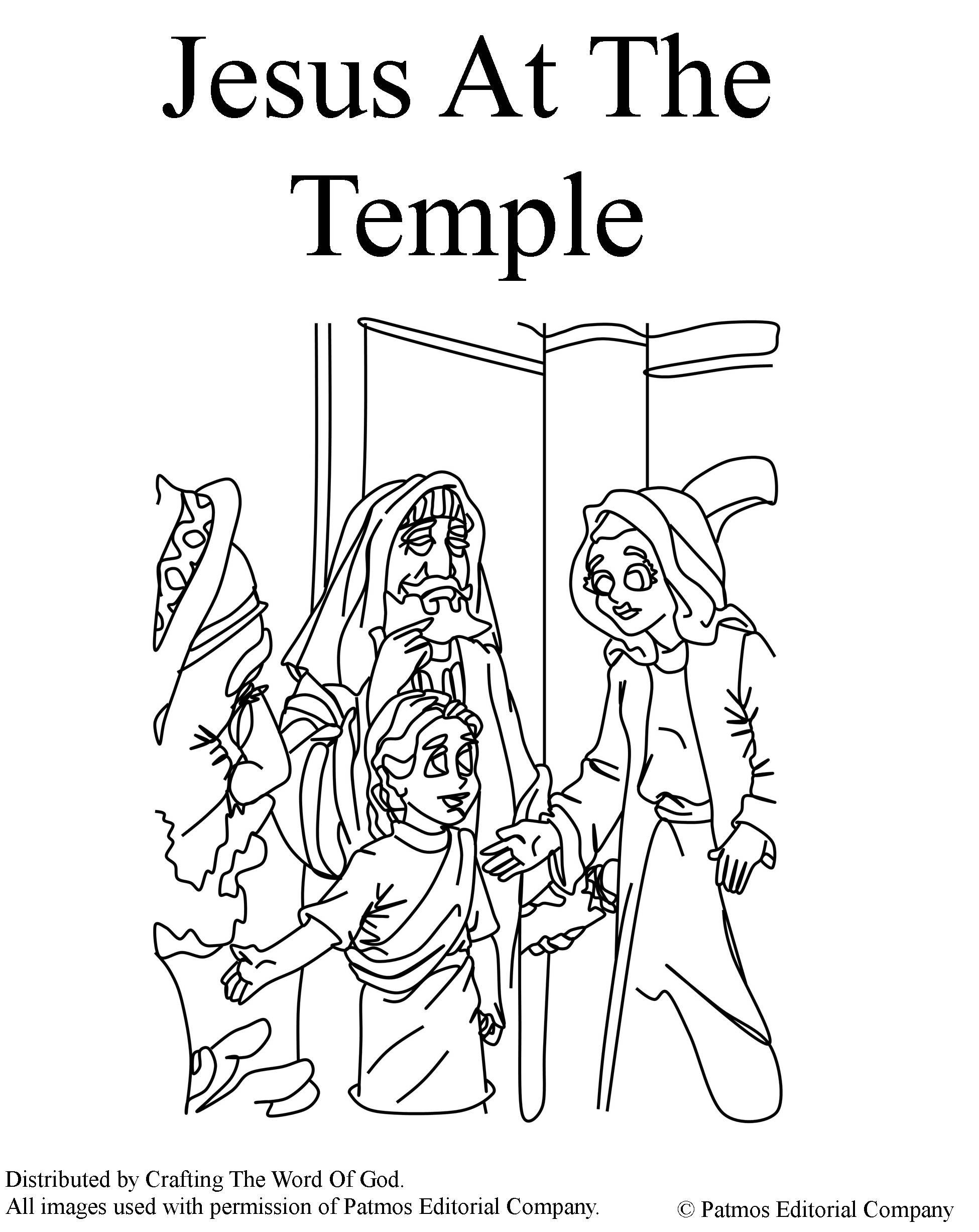 Jesus At The Temple- Coloring Page « Crafting The Word Of God