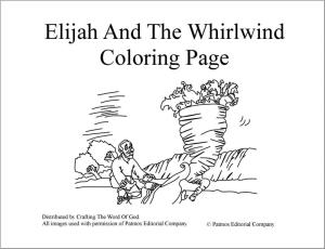 Elijah And The Whirlwind Coloring Page